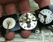 REAL Steampunk vintage watch faces bracelet fun stuff