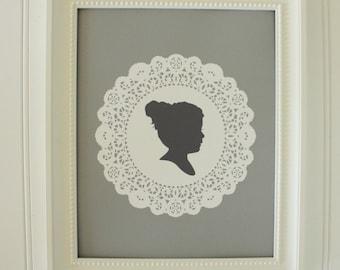 Custom Silhouette Print - Doily Design