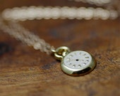 SALE- Was 32.00 Now 16.00 Tiny Gold Pocket Watch Necklace