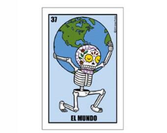 El Mundo Small Vinyl Sticker