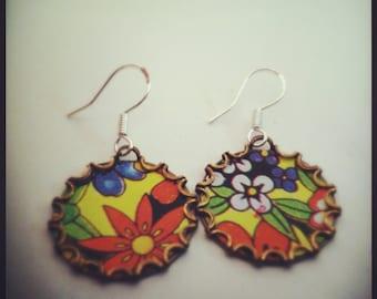 MEADOWLARK Vintage Tea Tin Floral Earrings
