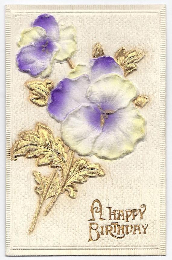 Postcard-c1908 A Happy Birthday