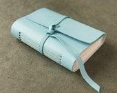 Robin's Egg Blue Lambskin Journal or Sketchbook