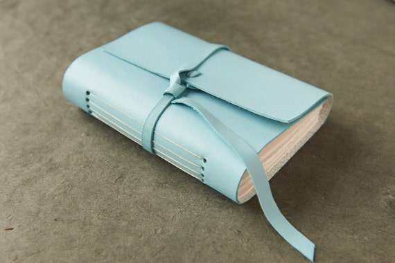 Robin's Egg Blue Lambskin Journal or Sketchbook