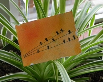 tribe - art card original - bright skies