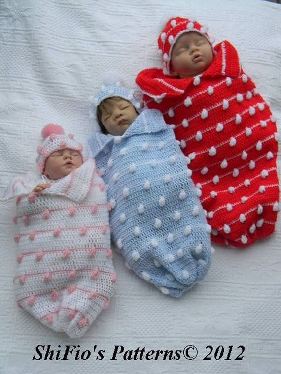 Crochet Baby Papoose Pattern Free : Baby Crochet Pattern Cocoon Papoose Hat Crochet Pattern by ...