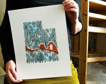 Utah print 11x14