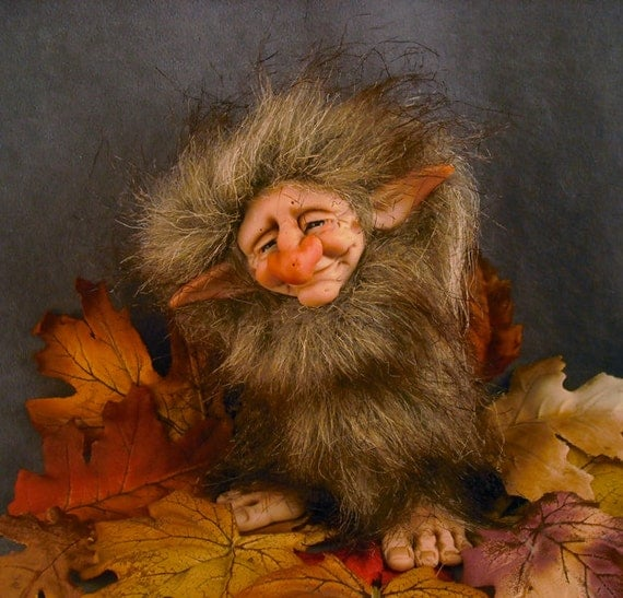 Ooak polymer clay troll art doll fairy sculpture oddfae by oddfae