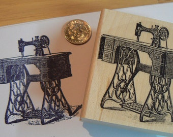Sewing machine rubber stamp WM p25