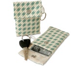 Houndstooth Keychain Pouch