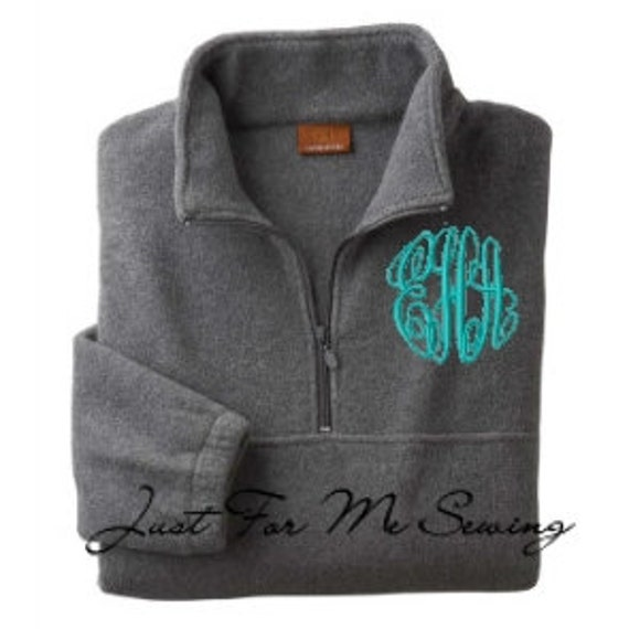 Monogrammed Fleece Pullover-Price Includes by JustForMeSewing