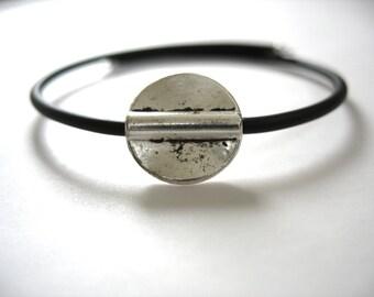 Silver Bracelet, Silver Bead Bounce Back Cuff Bracelet, Handmade Bracelet Jewelry