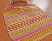 CLEARANCE SALE- Groovy Girl Stripe Eco-Friendly Baby/Toddler Bib