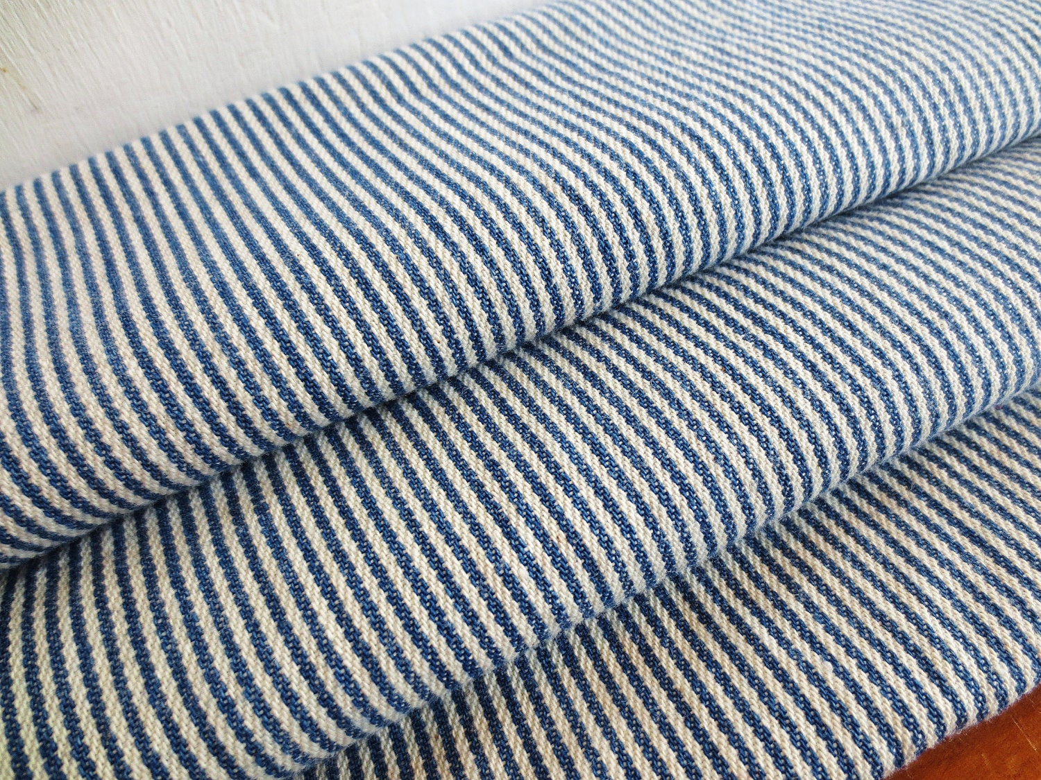 All Aboard Vintage Train Conductor Blue And White Pinstripe