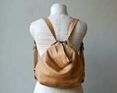 PETITE HOBO PACK - 3 in One Bag - two outside pockets plus interior zip and iPad pocket - leather backpack