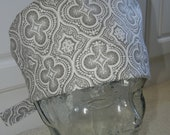 Tie Back Surgical Scrub Hat in Silver Linings