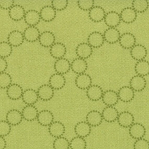 SALE Cherry Christmas quilt or craft Fabric by Aneela Hoey for Moda Fabrics, Circle Wreaths in Light Green-Fat Quarter