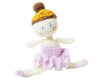Amigurumi Doll Pattern - Ballerina Crochet Pattern - Fairy