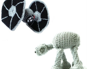 Star Wars Crochet Amigurumi Patterns - Tie Fighter & AT-AT