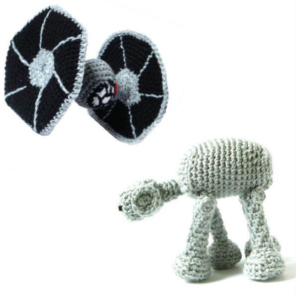 Amigurumi Sushi Pattern Free : Star Wars Crochet Amigurumi Patterns Tie Fighter & AT-AT