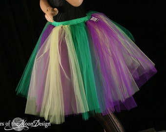 Adult tutu skirt romance extra poofy mardi gras yellow green purple costume halloween dance --You Choose Size-- Sisters of the Moon