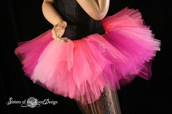 Adult tutu skirt peek a boo berry extra poofy party costume Halloween dance woodland fairy  -- Medium -- ready to Ship-- Sisters of the Moon
