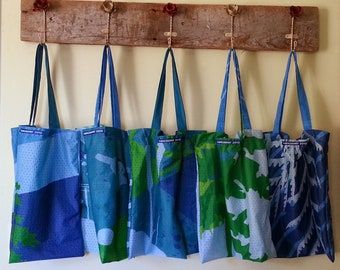 16 x 15.5 inch shopping bag made from reclaimed Vancouver 2010 Olympic banners 2010