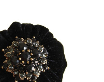 Black Emery Pincushion / Emery Pin Cushion