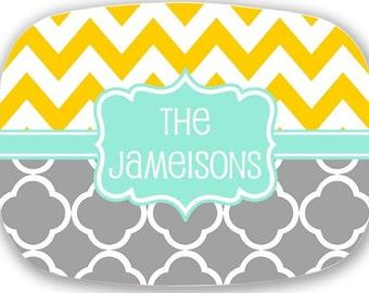Personalized Platter, monogrammed platter, serving platter tray, personalized serving platter, personalized serving tray