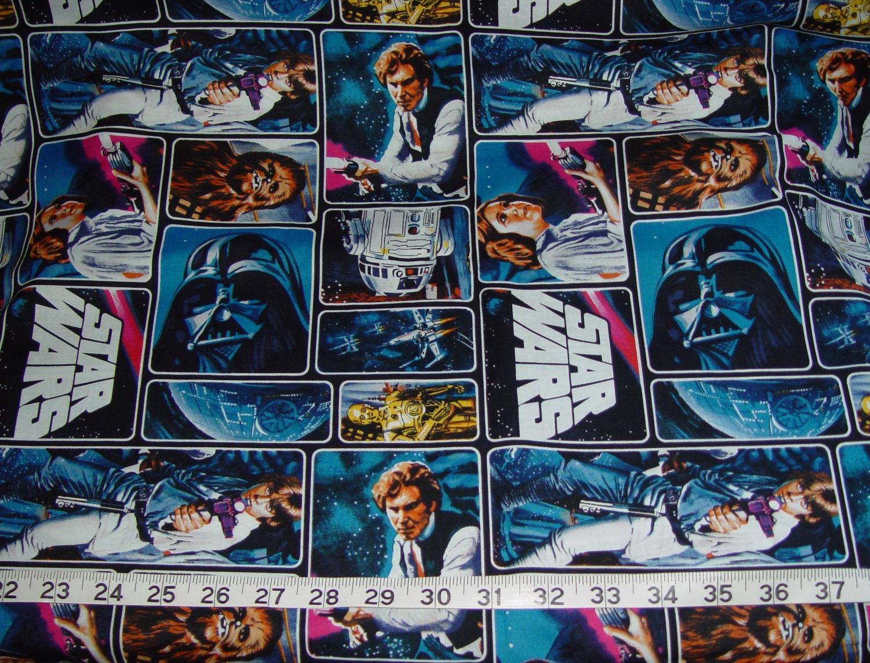 Star wars chewbacca r2d2 han solo luke skywalker fabric for Star wars fabric