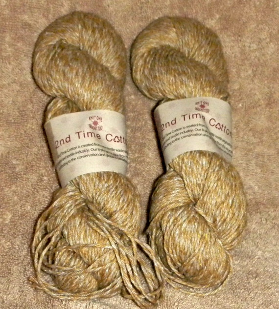 15 Percent Off Sale use Coupon Code WOOL15 2 skeins of 2nd Time Cotton 8ply Yarn
