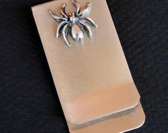 Money / Card Clip - Spider, Large