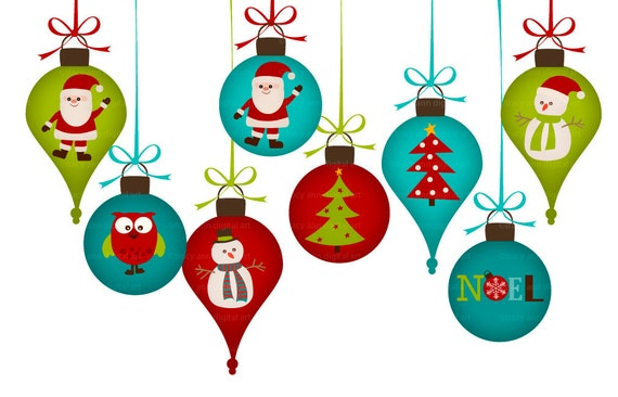 Items similar to christmas decorations clip art png for for Decoration clips