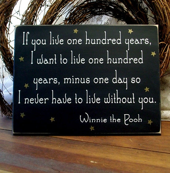 if you live one hundred years wood wall sign wall decor