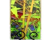 Bamboo glass cutting board, bamboo gift, bamboo glass, bamboo sushi plate, bamboo trivet, christmas bamboo