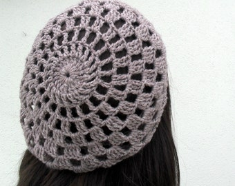 PDF Pattern - Crochet hat slouchy beret beanie cap