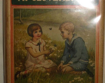Vintage Book First Edition Bobbsey Twins at Cloverbank 1926 with Dust Jacket