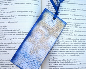 Paste Paper  Bookmark or Gift Tag PSS 1001