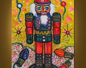 My Nutcracker III -- 20 x 30 inch Original Oil Painting by Elizabeth Graf on Etsy -- Art Painting Collectibles