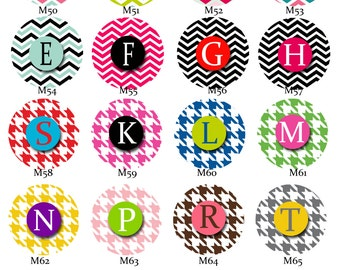 Badge Reel with MYLAR covering...U pick pattern and CHOOSE your letter