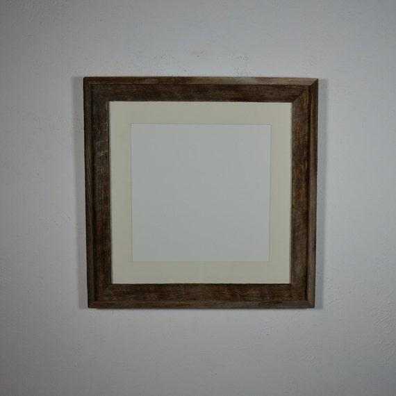 16x16 Rustic Frame Cream 12x12 Mat Free Shipping By Barnwood4u