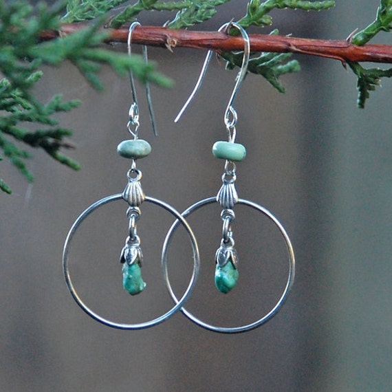 Petite Turquoise Hoops ,  Happy New Year, nature