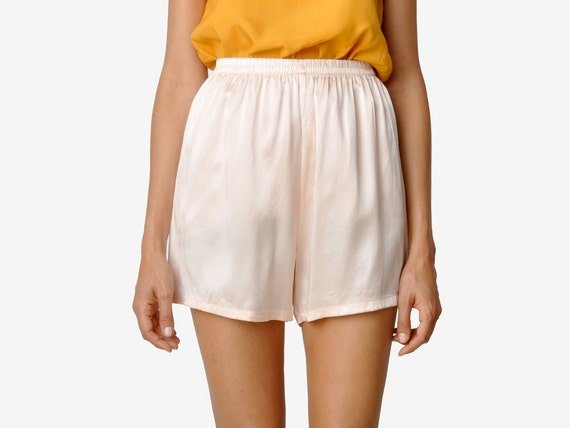Vintage Light Pink Silk Shorts
