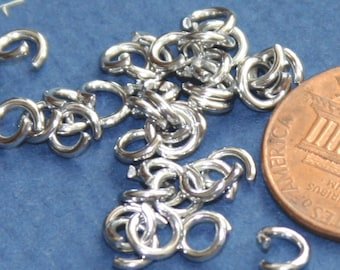 100 pcs of stainless steel open jumprings 6mm