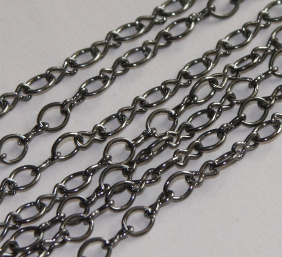 15ft of Gunmetal plated chain plated over steel large  figure 8 chain 4.1X 6.1mm