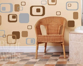 Wall Decals, Rectangle Wall Stickers, Wall Art, Vinyl Wall Decals, Wall Stickers, Rectangle Decals