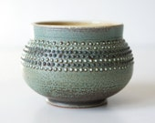 Spotted Cup, Turquoise, Stoneware, 12 Ounces