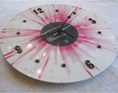 MADONNA Hard Candy - Recycled Record Clock - Pink Tie Dye Vinyl