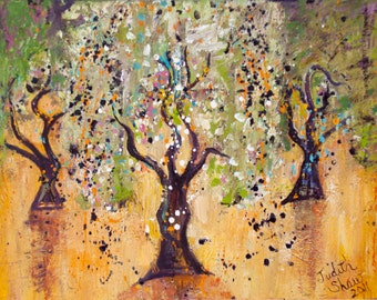 Small Print Tree Art - Dance of the Olive Grove