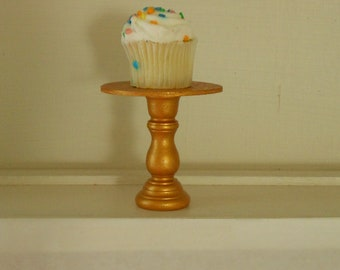 Gold mini wooden cupcake stand or cake pop stand so sweet for Christmas Weddings showers